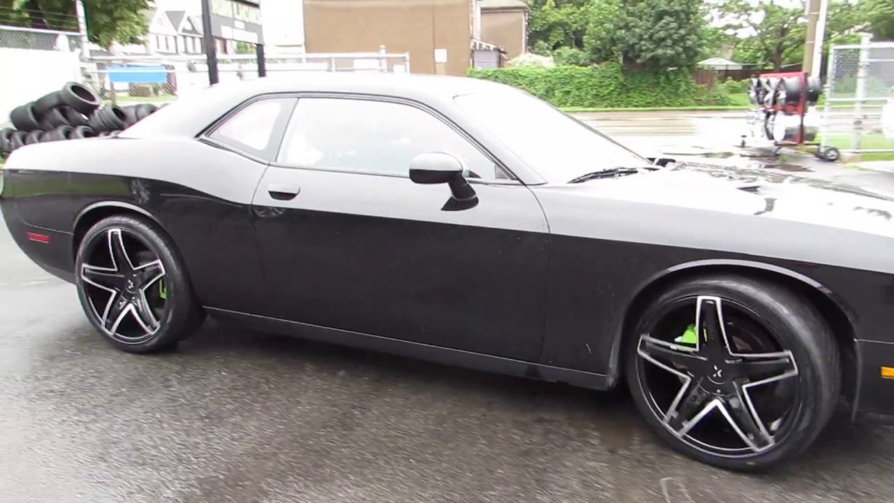 2016 Dodge Challenger With 22 Inch Black Rims Tires Youtube