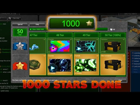 Tanki Online 1000 Stars DONE! Opening NEW Skin Container - April Challenges A - Wassil