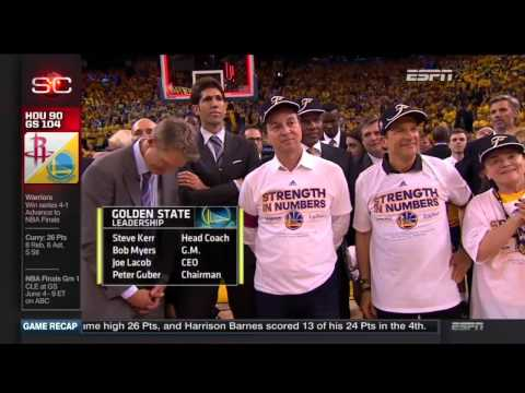 Western  Conference Championship Trophy Presentation - Golden State Warriors | 2015 NBA Playoffs