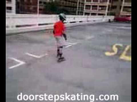 Skating lesson at Choa Chu Kang