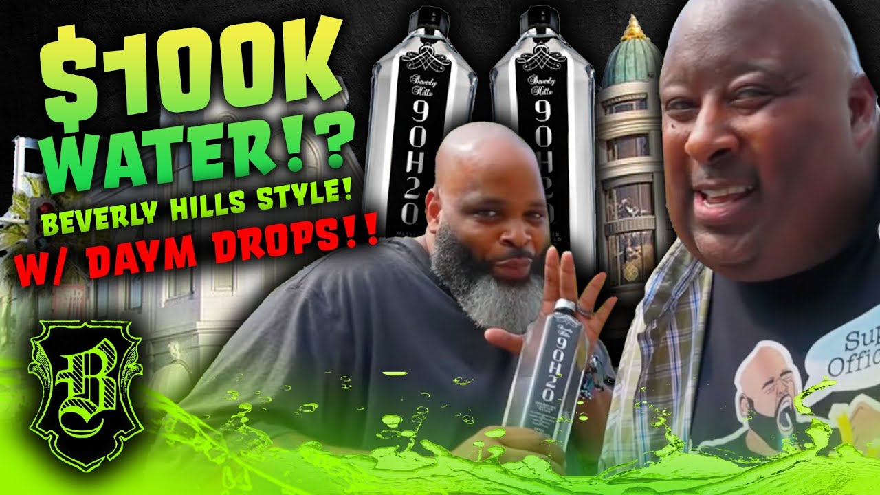 $100,000 WATER?!? | Badlands & Daym Drops Reviews Beverly Hills 90H20 Master Crafted Water