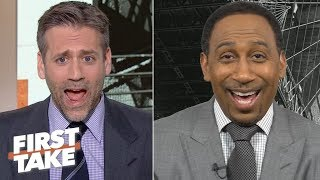 'Can I hire you as my publicist?' – Max is floored by Stephen A. defending Kyrie Irving | First Take