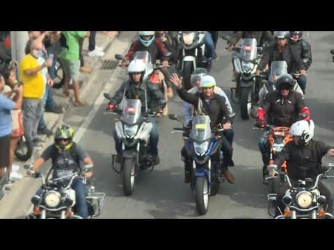 Bolsonaro lidera manifestação