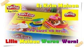 ICE CREAM FACTORY Fun Doh 🍦 JENICA Membuat ES KRIM Lilin Mainan 🍦 Jenica Balita Lucu 💖