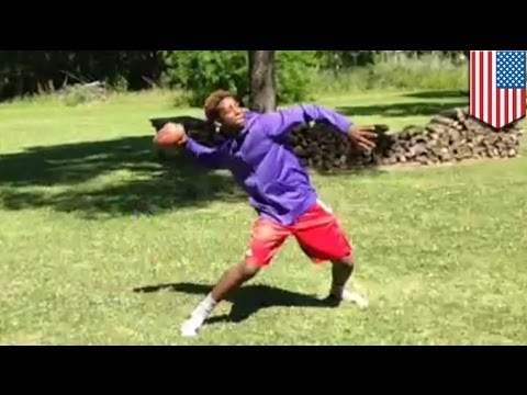 Gone viral: High school football phenom Gary Haynes catches his own passes