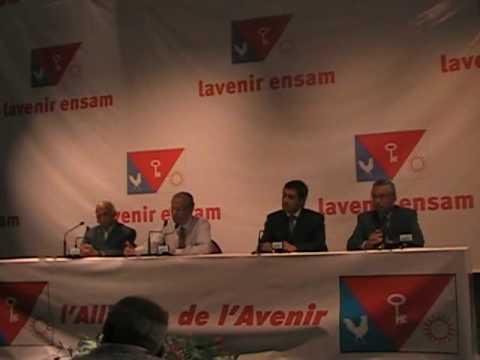 Conférence de presse de Navin Ramgoolam.
