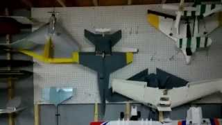 Peg Board Plane Storage