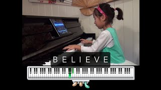Believe from The Polar Express on piano