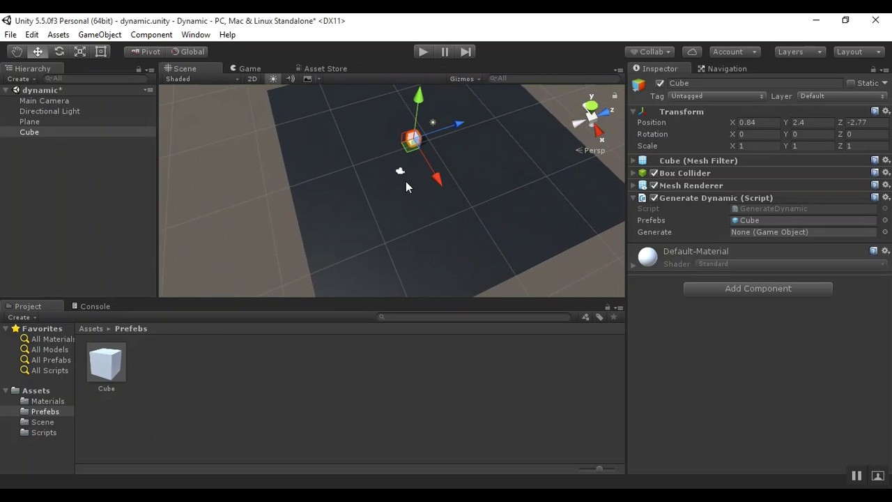Instantiate a game object at runtime in unity | dynamic gameobject in unity