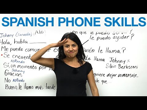 How to say call light in spanish