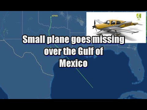 Small plane goes missing over the Gulf of Mexico