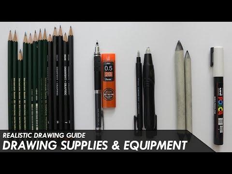 Best but cheapest art supplies (pencils+pages etc) for begginer artists // pawan nath art