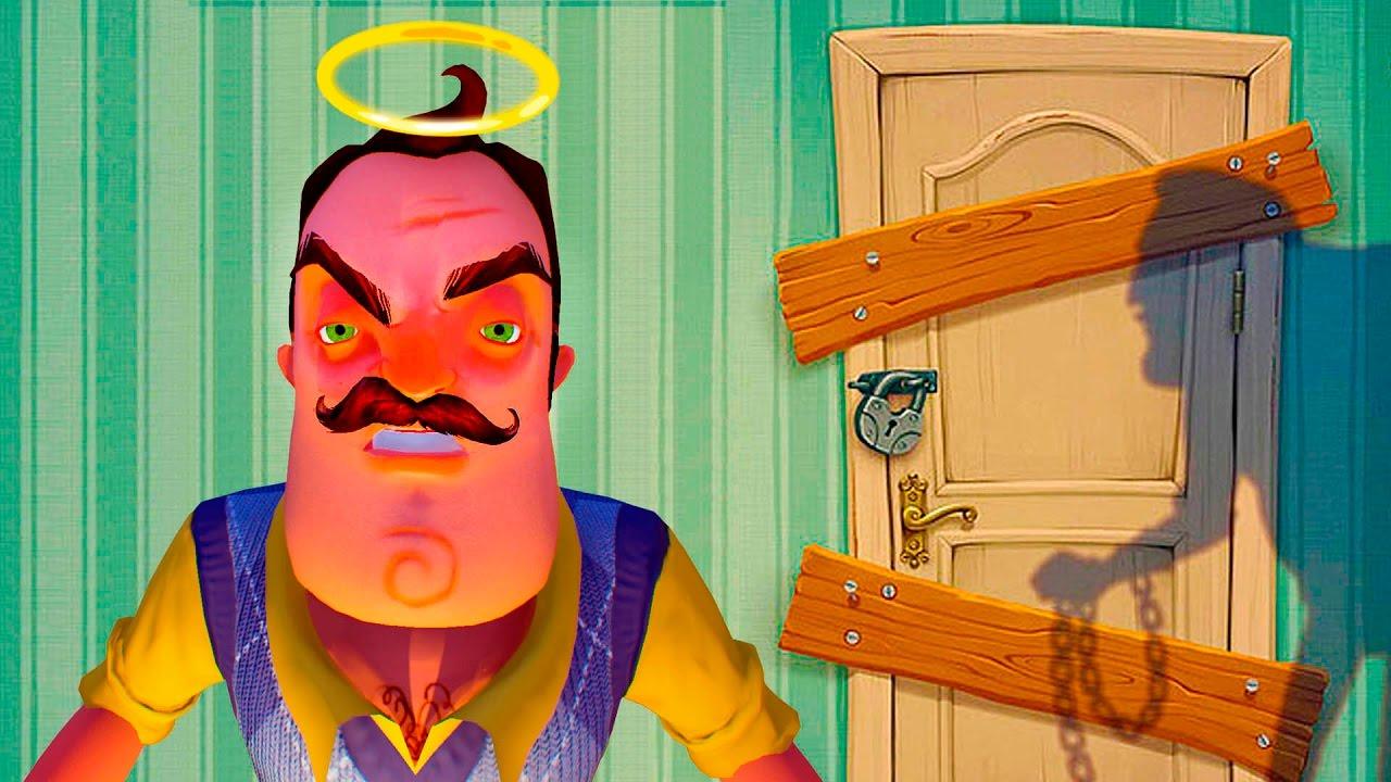 ПРИВЕТ СОСЕД Альфа 4 СПАСАЕМСЯ от странного Злого соседа детские страшилки канал KID Master Games