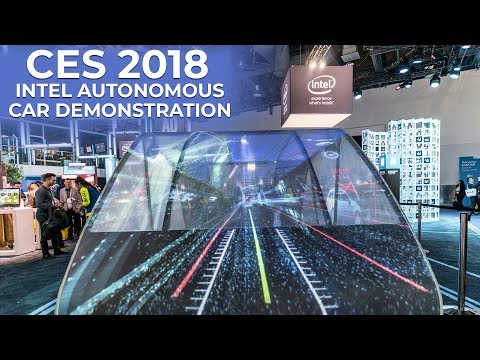 CES 2018 - Intel AI Autonomous Car Demo at the Consumer Electronics Show