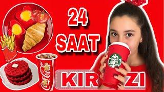 24 SAAT BOYUNCA TEK RENK HERŞEY KIRMIZI !!! (Kırmızı Yumurta-Kırmızı Su-Kırmızı Yoğurt)