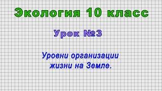 Экология 10 класс (Урок№3 - Уровни организации жизни на Земле.)