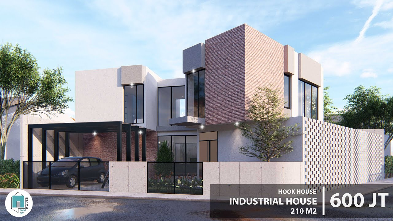 Rumah Industrial #2 di Lahan Hook 240 m2