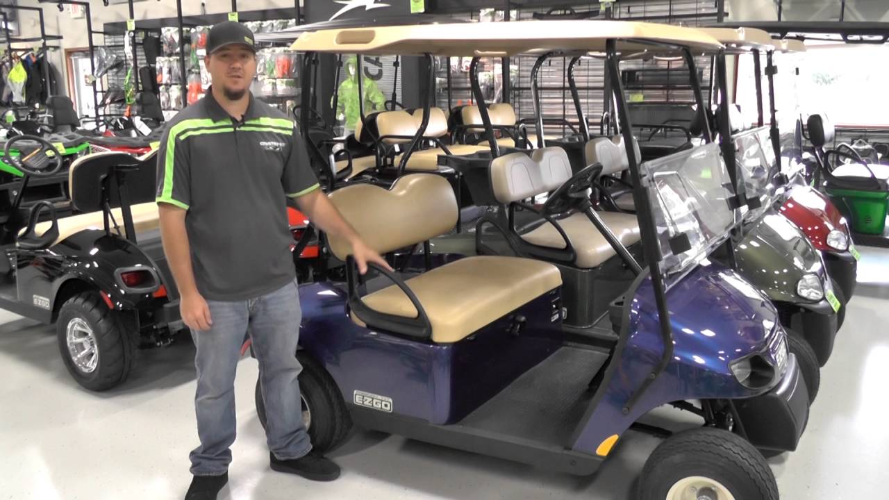 E-Z-GO Freedom TXT Gas Golf Cart - YouTube on