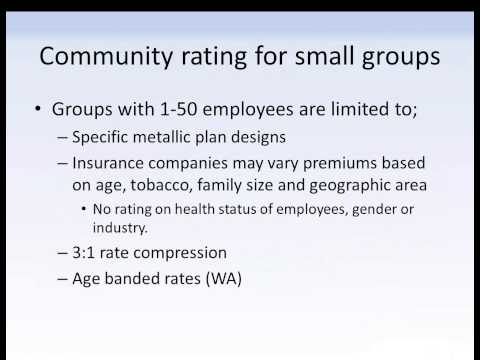 Community Rating, it s effect on mid sized employers health plans