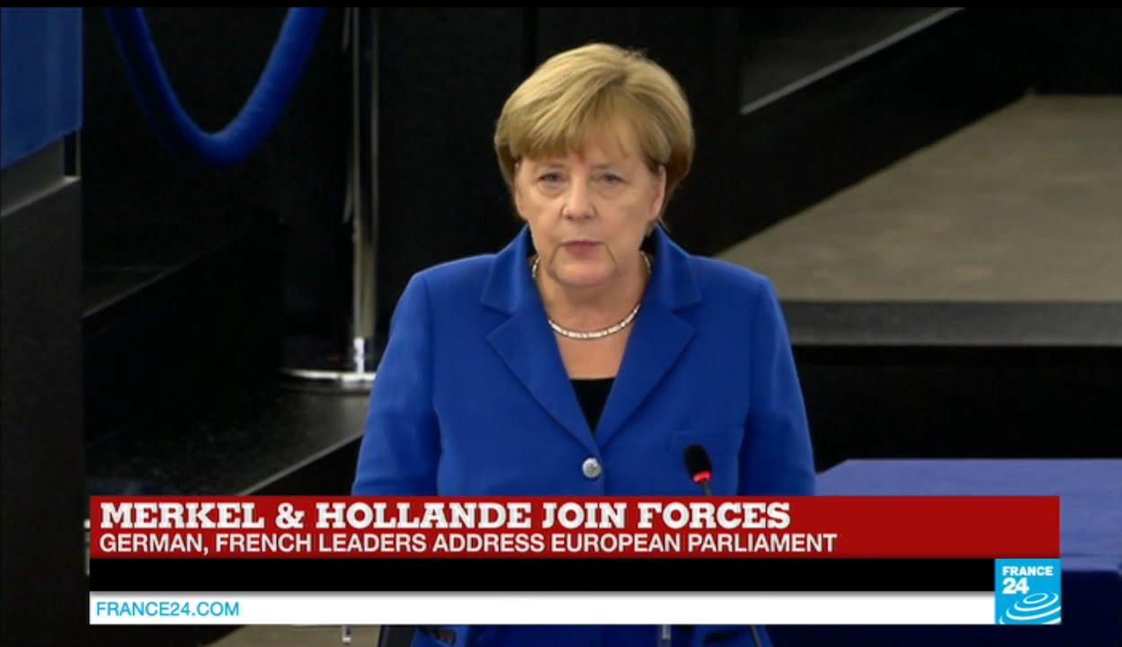 فرانس 24: REPLAY - Watch German Chancellor Angela Merkel full address to European Parliament