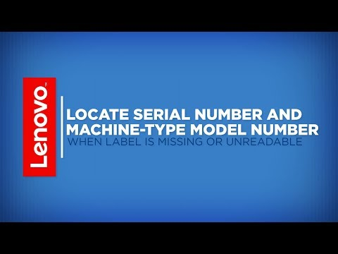 How To - Locate Serial Number And Machine-Type Model Number