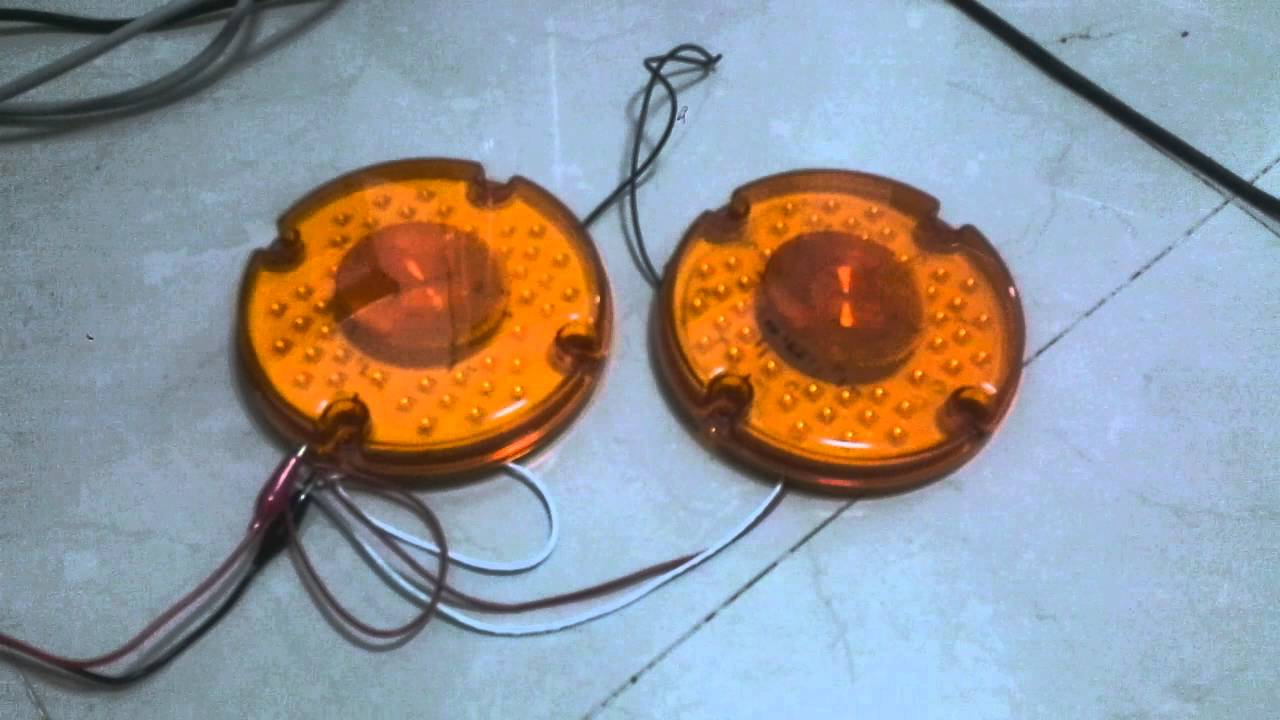Tractor Strobe Lights : Quot round amber warning strobe light led school bus