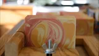 The Making And Cutting Of White Peach & Hibiscus Soap