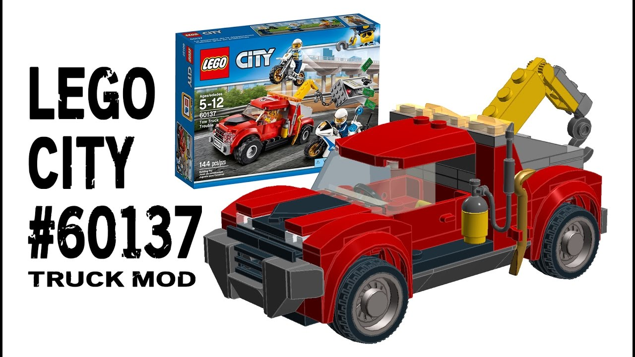 Building 2017 Lego City 60137 Tow Truck Mod Instructions Youtube