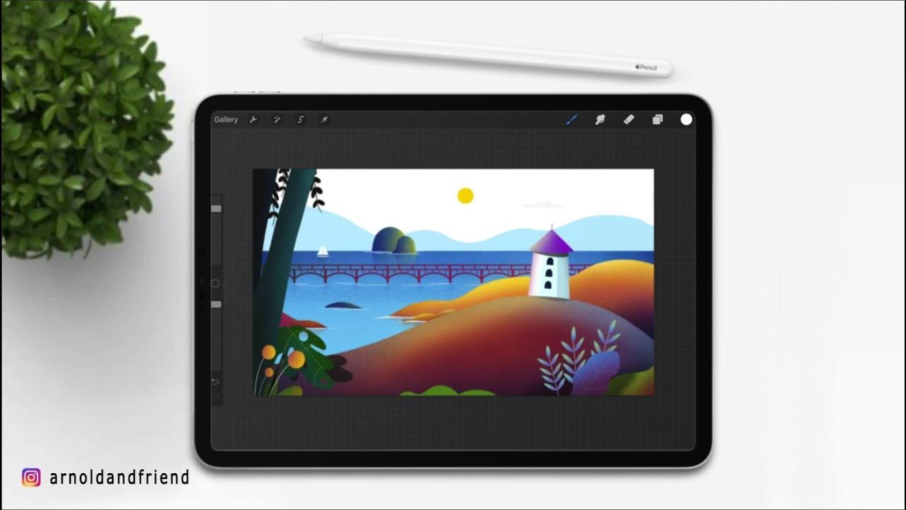 Menggambar ilustrasi Panorama atau Landscape dengan iPad ...