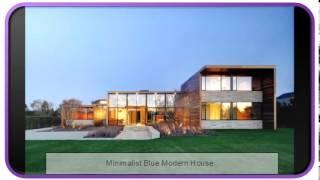 Minimalist Blue Modern House