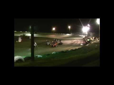 Judd Sheaffer flips his sprinter @ hayden speedway 6-5-10