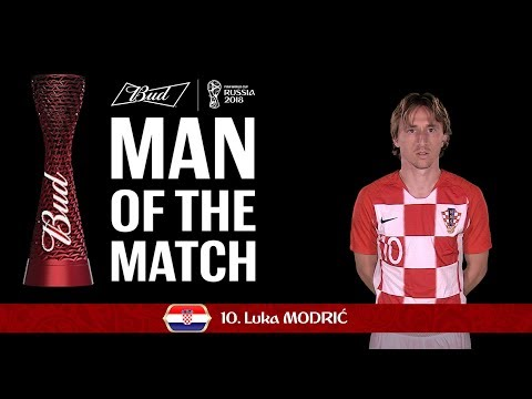 Luca MODRIC (Croatia)- Man of the Match - MATCH 8