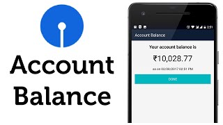 State Bank of India Check Bank Account Balance Online