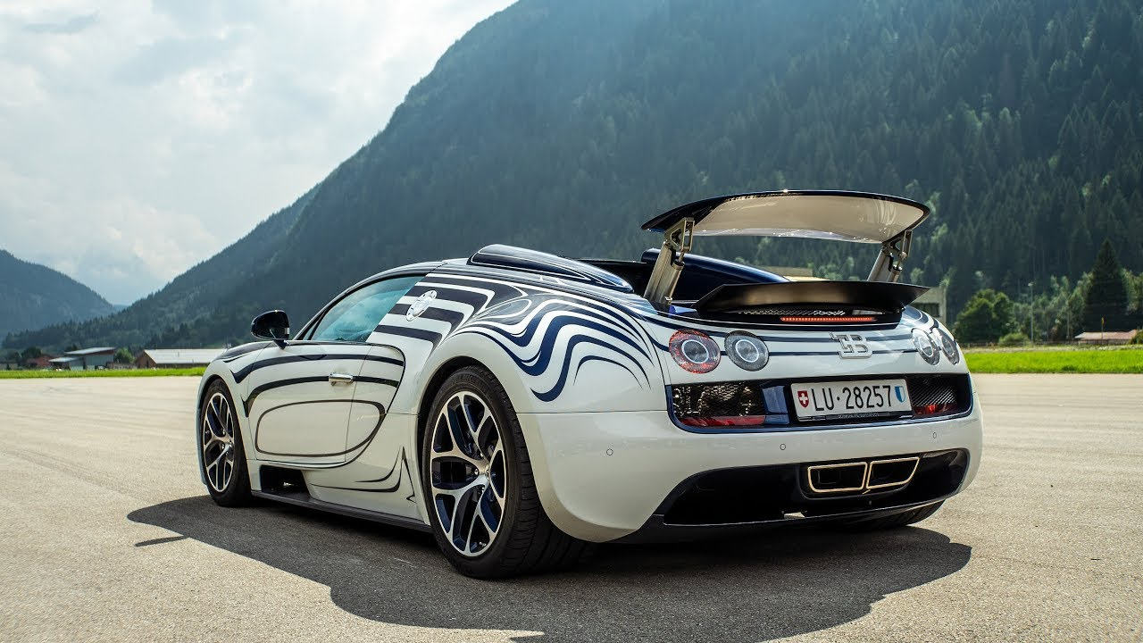 One Off Bugatti Veyron Grand Sport Vitesse L Or Blanc Sound And Drag Racing Youtube