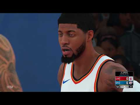NBA 2K18 Los Angeles Clippers vs Oklahoma City Thunder