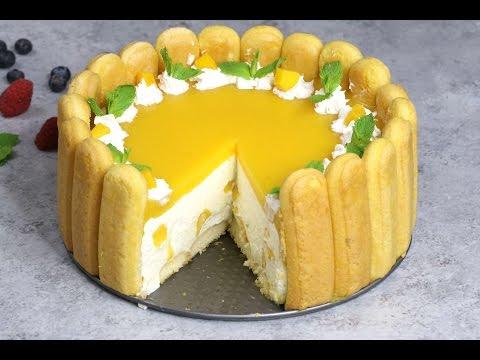 No Bake Mango Cheesecake (Charlotte Style)