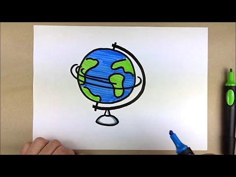 Flipchart gestalten - Welt, Erde, Globus, Erdkugel - Visualisieren lernen