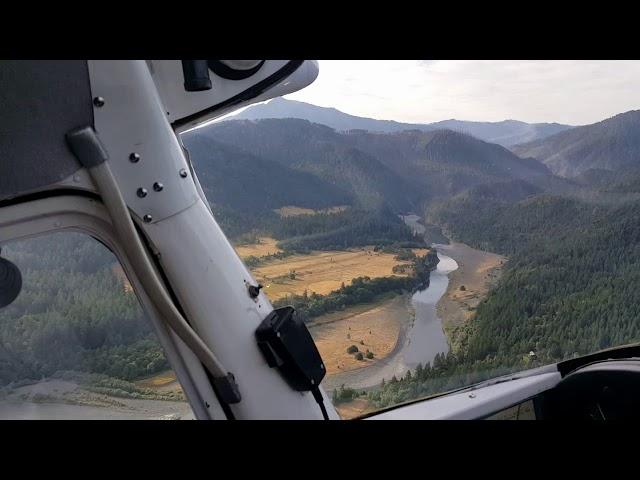 Lucas lodge (Agnes) Oregon airstrip take off in Cessna 170B