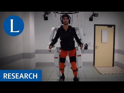 Exoskeleton Controlled by a Brain-Machine Interface