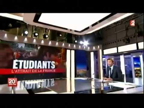 Interview sur la vie des étudiants étrangers, sur France 2