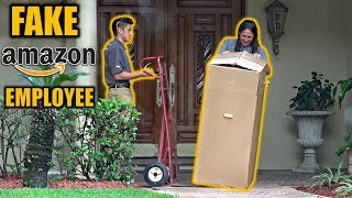 fake amazon employee delivery prank