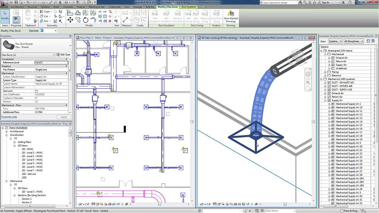 Revit For Mep Checking Duct Systems Youtube
