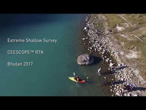Extreme CEESCOPE RTK Single Beam Kayak Hydrographic Surveying -  Bhutan 2017