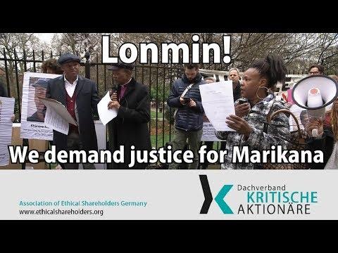 Lonmin! We demand justice for Marikana