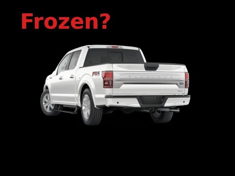 2016 Ford F150 tailgate latch frozen