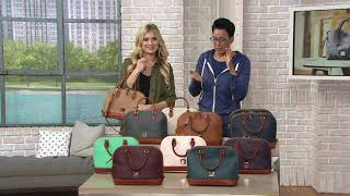 Dooney & Bourke Pebble Leather Zip Zip Satchel on QVC