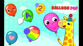 Balloon Pop Kids Learning Game - Free game for babies on Google Play