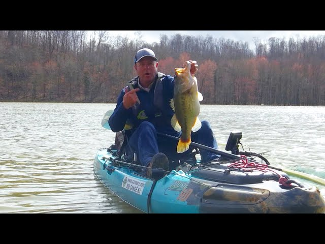Kayak Fishing for Big Pre-Spawn Largemouth Bass
