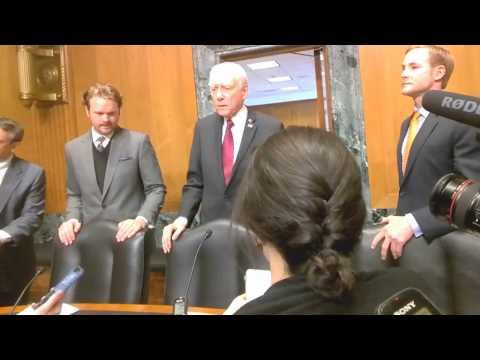 BBN speaks to US Senate Finance Cmmt. Chairman Orrin Hatch #Mnuchin