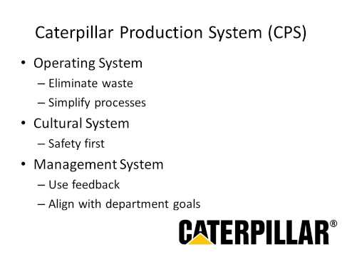 Supply Chain Management at Caterpillar, Inc.